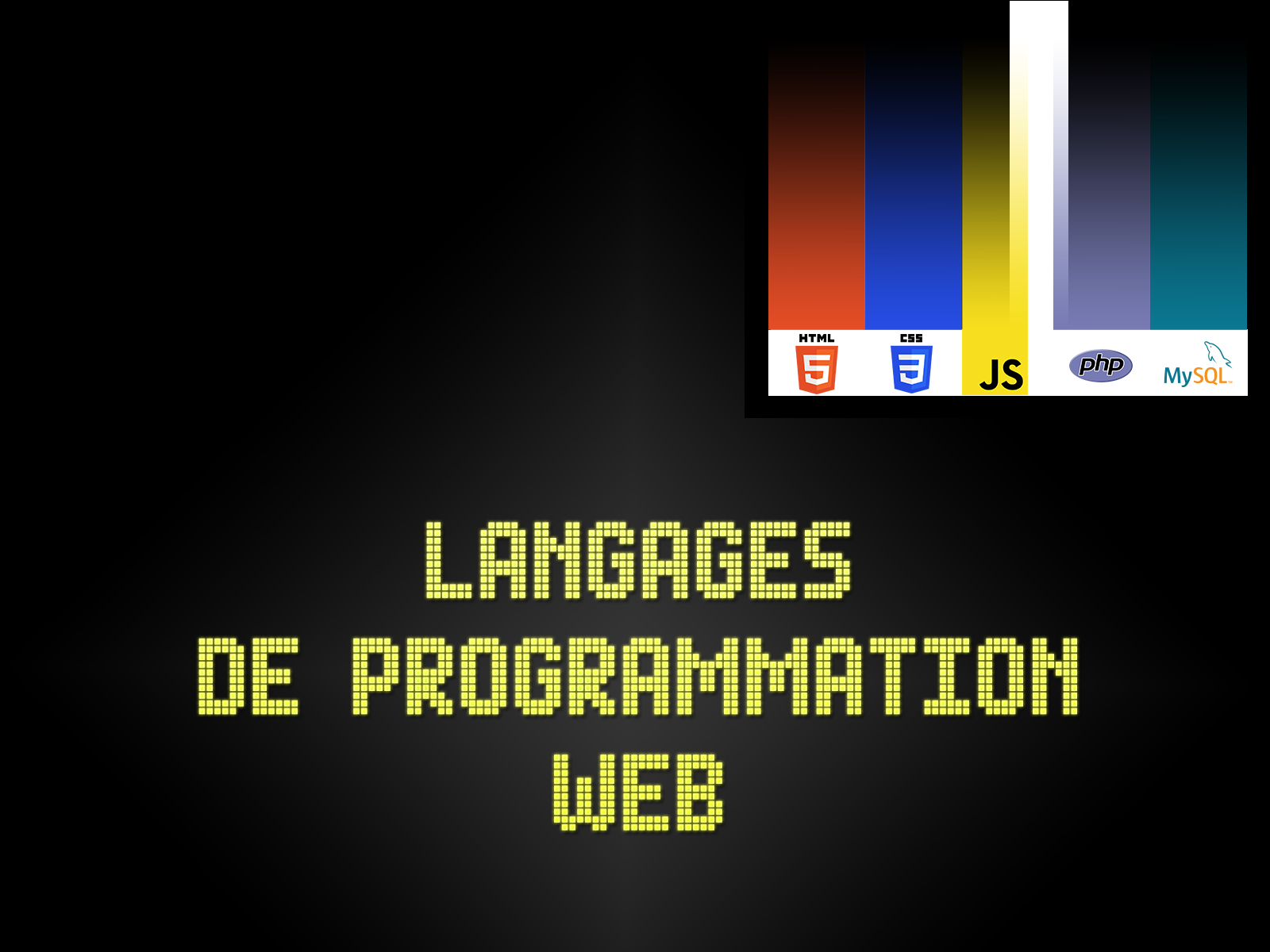 Langages de programmation WEB
